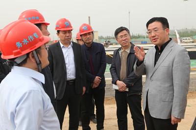 山阳区领导调研苏蔺水厂等重点项目建设